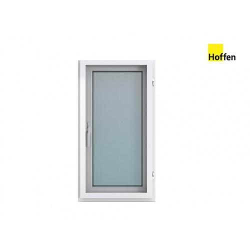 Hoffen  หน้าต่างไวนิล บานเปิดเดี่ยว ขนาด 60x110ซม.  พร้อมมุ้ง W2  สีขาว