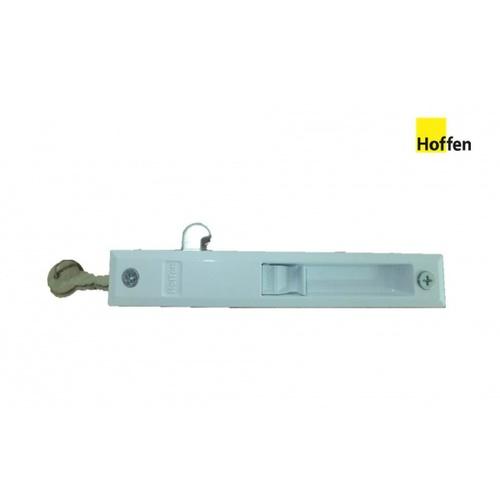 Hoffen ชุดล็อกประตูบานเลื่อนมีกุญแจ - สีขาว