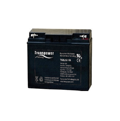 Transpower แบตเตอรี่ TGEL12-18 สีดำ