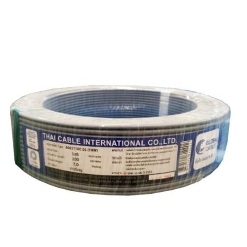 Global Cable สายไฟ THW  IEC01 1x6 100เมตร สีเทา