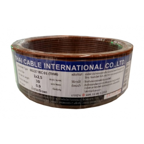 Global Cable สายไฟ THW   IEC01 1x2.5 30เมตร  สีน้ำตาล