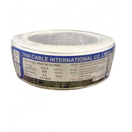 Global Cable สายไฟ  THW IEC01 1x1.5 100เมตร สีขาว