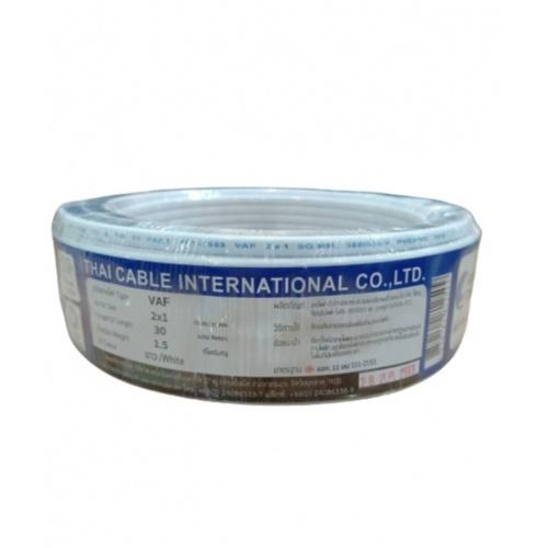 Global Cable สายไฟ  VAF 2x1 SQ.MM 30M สีขาว