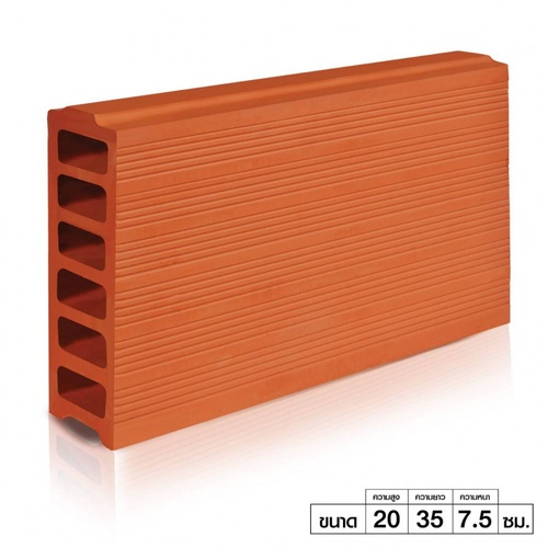 อิฐเซรามิค อิฐเซรามิค C-Brick ขนาด 7.5x35x20cm. ขนาด 7.5x35x20cm.