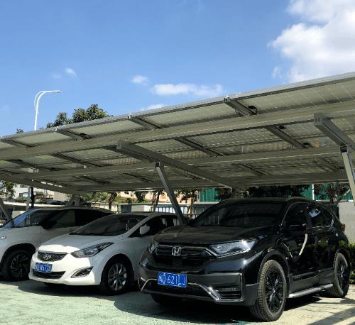 Clenergy หลังคาที่จอดรถ Solar cell สำหรับ 2 คัน