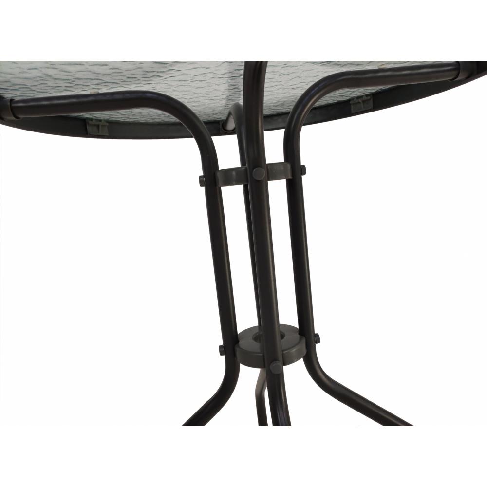 SUMMER SET โต๊ะเหล็กกลม ขนาด60x60x70 ซม. สีเทาเข้ม