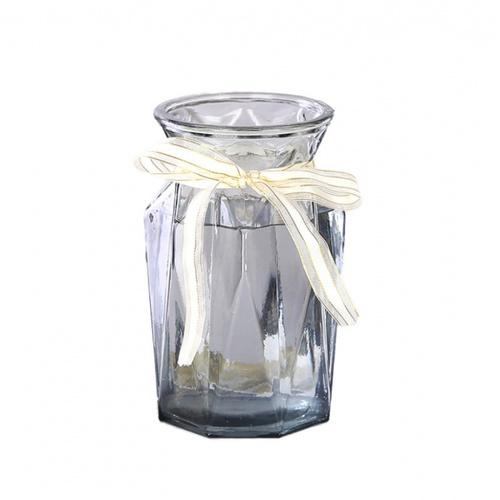 COZY แจกันแก้ว ขนาด 10x18 ซม. Caeli  เทา