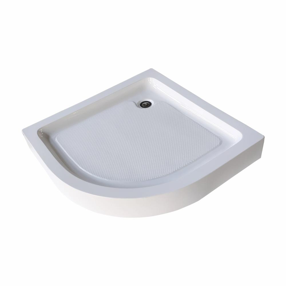 Heritage  ถาดรองตู้อาบน้ำพร้อมสะดือแบบเข้ามุมโค้ง ขนาด 900x900x150mm. ABS-07 สีขาว