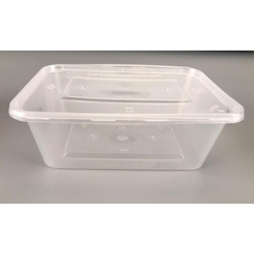 Nibiru กล่องอาหารพร้อมฝาพลาสติก PP 750ml. (15ชิ้น/Pack) Ki-Re-I