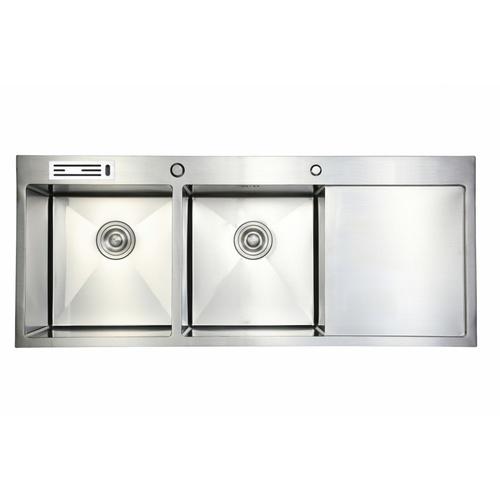 Koch Kitchen  อ่างล้างจาน 2 หลุมมีที่พัก SUS304 HM-12050-SA