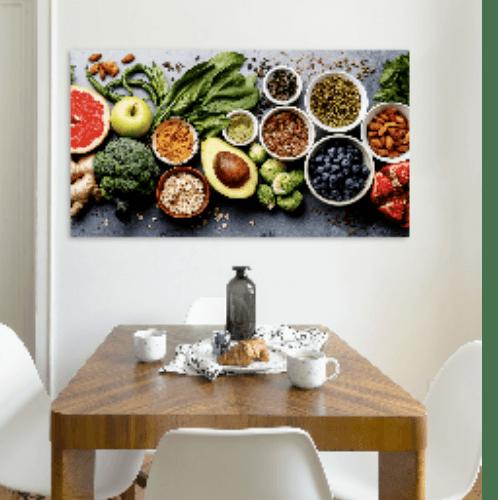 NICE รูปภาพพิมพ์ผ้าใบ Restaurant ขนาด  90x50ซม. (ก.xส.) (สมุนไพรไทย) C9050-1