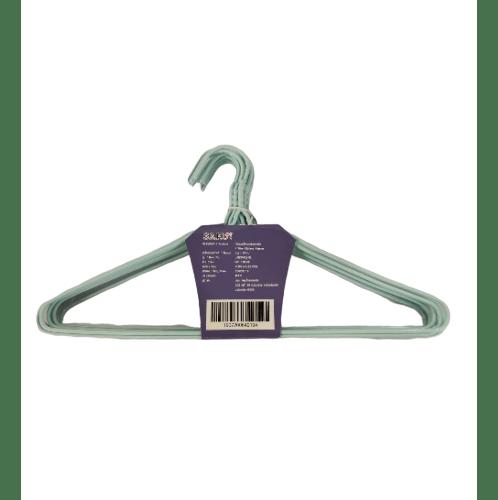 SAKU ไม้แขวนเสื้อลวดหุ้มพลาสติก แพ็ค 10 ชิ้น JMZM022- BL สีฟ้า
