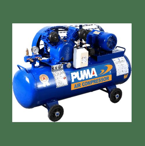 PUMA ปั้มลมสายพานพร้อมมอเตอร์ 260 ลิตร 220V. PP23P-WM น้ำเงิน-เทา