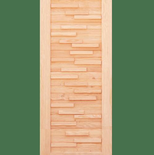 D2D ประตูไม้ดักลาสเฟอร์  ขนาด 100x200 ซม. Eco Pine - 030 ธรรมชาติ