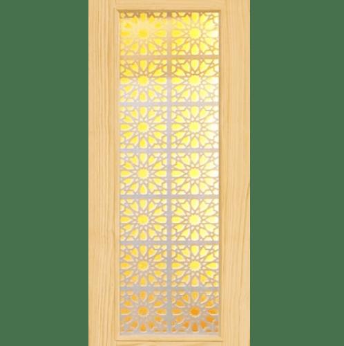 D2D ประตูไม้สนนิวซีแลนด์ ขนาด 70x200 cm. D2D-601 น้ำตาลอ่อน