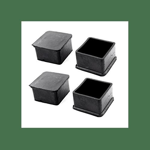 S.S.P. ยางขาโต๊ะเหลี่ยมโปร่ง สวมนอก (2 ชิ้น/แพ็ค) 2 นิ้ว สีดำ