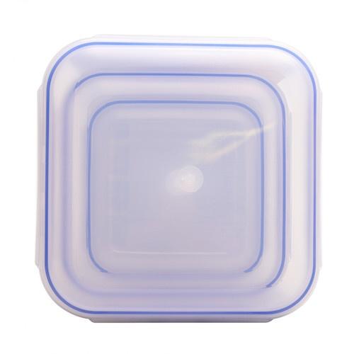 GOME ชุดกล่องถนอมอาหารพลาสติกทรงเหลี่ยม  EYYZ13 650ML/1500ML/2800ML 3 ชิ้น/แพ็ค สีน้ำเงิน