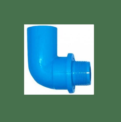 AAA ข้องอ 90° เกลียวนอก  หนา 3/4 นิ้ว (20) ชั้น 13.5  สีฟ้า