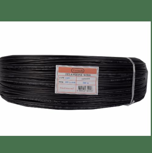 LEETECH Leetech สายดรอปวาย 2x0.90mm (200เมตร/ขด) สีดำ 2x0.90mm สีดำ สีดำ