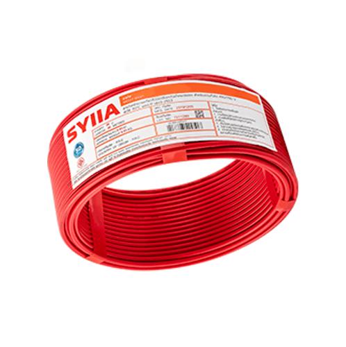 SYLLA สายไฟ 60227 IEC01  THW 1x4 Sq.mm.100m. สีแดง