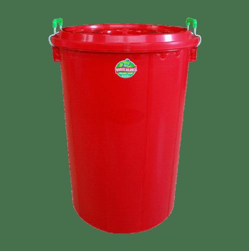 BIGONE ถังพร้อมฝา ขนาดบรรจุ 100 ลิตร สีแดง 100 ลิตร สีแดง