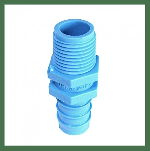 SCG หัวกันไหลเกลียวนอกPVC 1นิ้ว(25x3/4) สีฟ้า