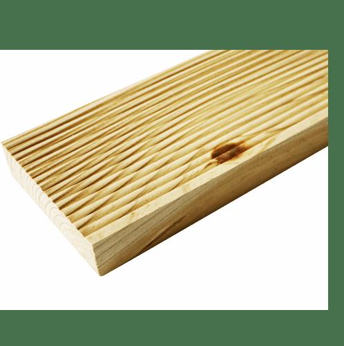 - ไม้พื้นระเบียง ChaleT SYP อบ10-12%+อัดน้ำยา Premium  ขนาด (1.5นิ้วx8นิ้วx3.0ม.)