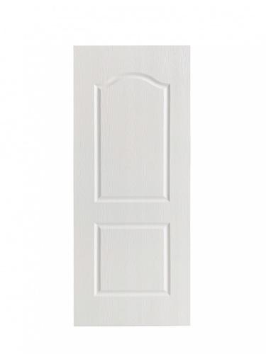 Wellingtan ประตูยูพีวีซี บานทึบ 2ฟักโค้ง ขนาด 80x200ซม. UPVC-W002 WHITE OAK