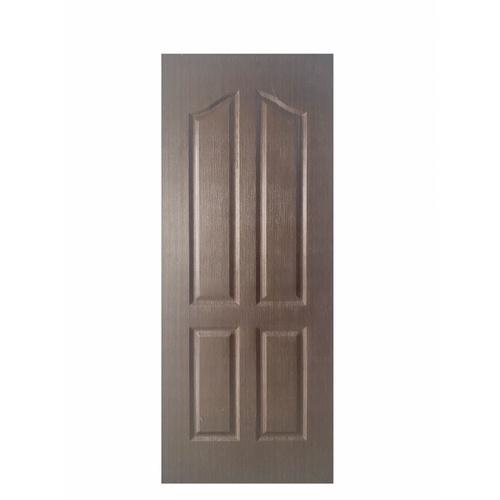 WELLINGTAN ประตูยูพีวีซี บานทึบ 4ฟักปีกนก ขนาด 80x200ซม. UPVC-W004 BLACK WENGE น้ำตาลเข้ม