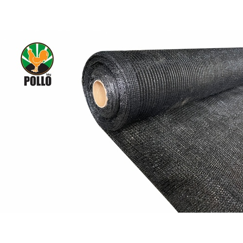 POLLO สแลนท์ HDPE 50% ขนาด 2 x 50 เมตร SH-3211-55 สีดำ