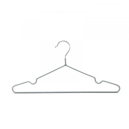 SAKU ไม้แขวนเสื้อเหล็กเคลือบกันลื่น แพ็ค 10 ชิ้น AN105 สีเทา