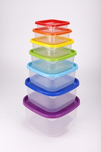 GOME ชุดเซ็ตกล่องถนอมอาหาร 7ชิ้น/แพ็ค  Kapookka คละสี