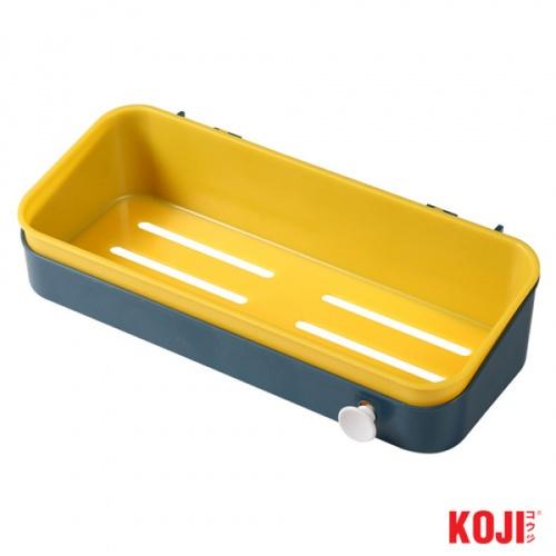KOJI ถาดวางของติดผนัง ขนาด 10.5x27x6.5 cm. 2WSTS005-YB สีเหลือง