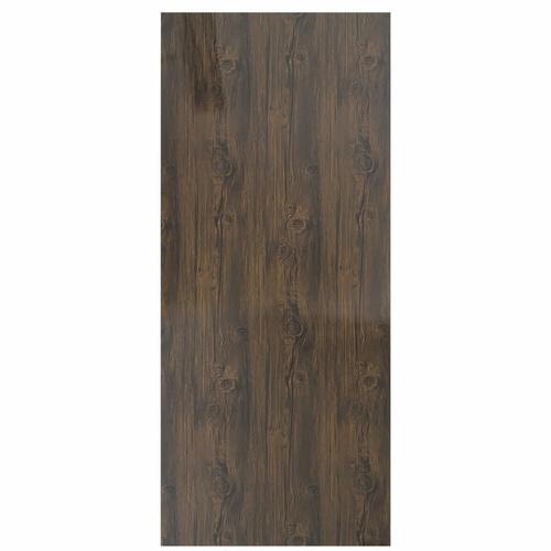 Wellingtan ประตูยูพีวีซี บานทึบ (เงา) ขนาด 80x200ซม. UPVC-SD01 BROWN FIR