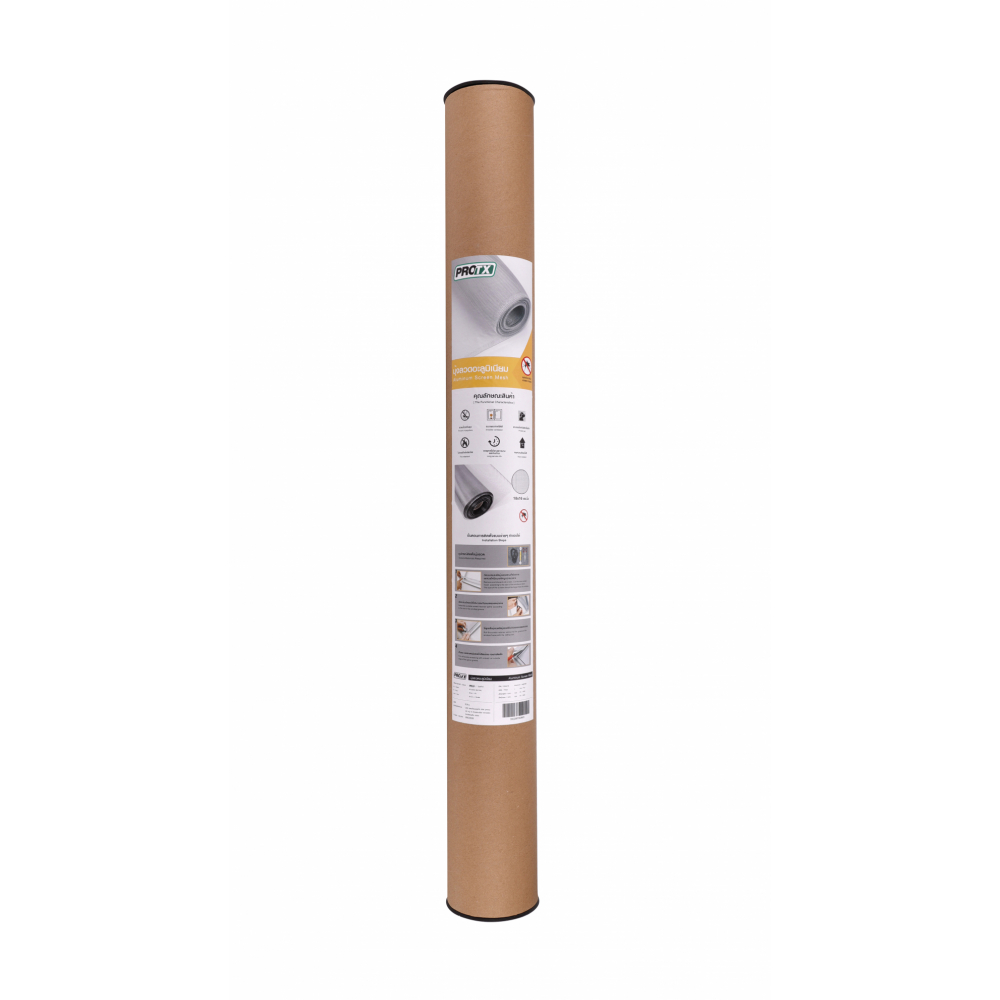 PROTX มุ้งลวดอะลูมิเนียม (48 นิ้ว x 10เมตร Dia 0.21mm 18x16/ตร.นิ้ว) 4TCS010-48/10AL เงิน