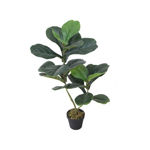 Tree O ต้นไทรใบสักประดิษฐ์ สูง75ซม. 22LVS พร้อมกระถาง JWS2923 สีเขียว