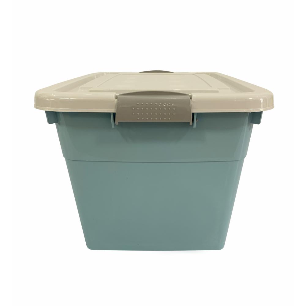 GOME กล่องพลาสติกมีล้อ 25 ลิตร  ขนาด 28.5x38.5x21ซม. 2BEZ044-BL สีฟ้า