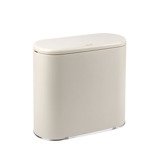 ICLEAN ถังขยะฝากดทรงรี 10 ลิตร (34.2x16.1x31 ซม.)  Ozil  TG55376 สีเบจ