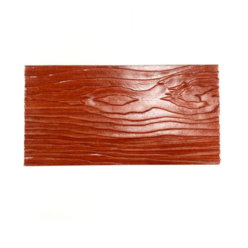TPI ไม้ฝาลายสัก แดงเบอร์รี่ ขนาด  0.8x15x400cm.