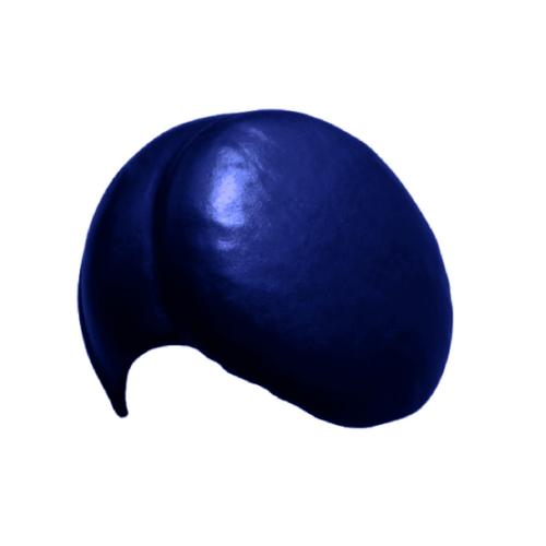 โอฬาร ครอบปิดจั่ว/ตะเข้   สามลอน (ลูกโลก) สีน้ำเงิน