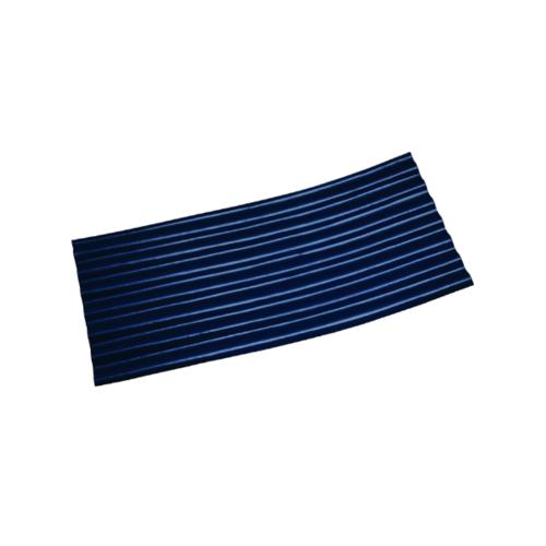 โอฬาร กระเบื้องปลายงอน 4มม. 54*120ซม. ลอนเล็ก (ลูกโลก) ขวา สีน้ำเงิน