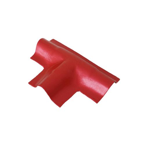 โอฬาร ครอบลอนคู่สามทางตัวที (ลูกโลก) สีแดงประกายทับทิม ลอนคู่ แดงประกายทับทิม