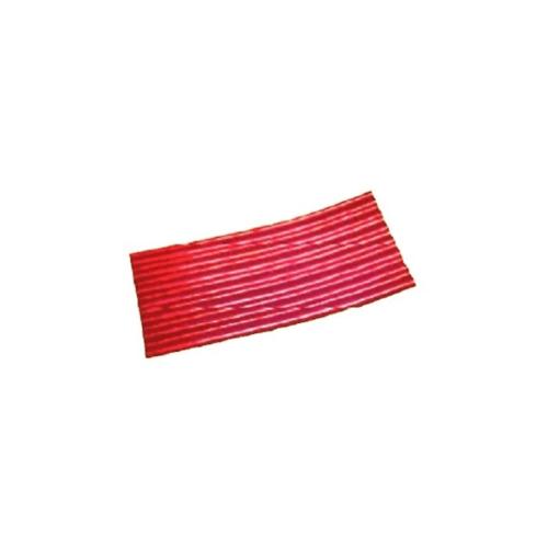 โอฬาร ลอนเล็กปลายงอน 4มม. 54*120ซม.(ลูกโลก) ลอนเล็ก สีแดง