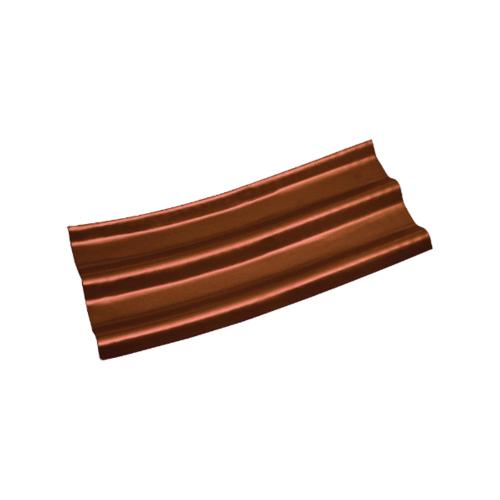 โอฬาร กระเบื้องปลายงอน (ขวา-ซ้าย)  0.50x50x120ซม. สีหมากแดง (ลูกโลก) ลอนคู่