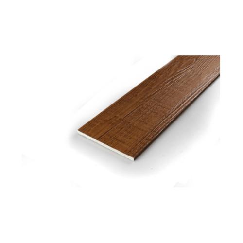 โอฬาร ไม้ฝาลายสน 0.8x15x400 ซม.  สีวอลนัท (ลูกโลก)