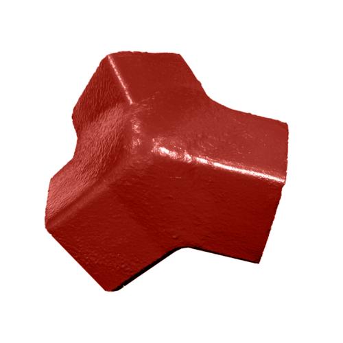 โอฬาร ครอบ 3 ทาง สีแดงผลแอ๊ปเปิ้ล (ลูกโลก) คอนโดร
