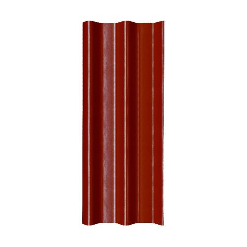 โอฬาร กระเบื้อง 0.5x50x120 ซม. สีหมากแดง (ลูกโลก) ลอนคู่