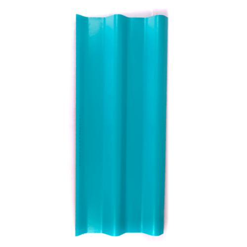 โอฬาร กระเบื้องลอนคู่ 0.5x50x120 ซม.สีฟ้าสดใส (ลูกโลก)