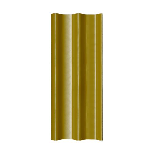 โอฬาร กระเบื้อง 0.5x 50x150 ซม.สีเหลืองกาญจนา (ลูกโลก) ลอนคู่
