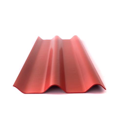 จิงโจ้ กระเบื้อง 0.4x50x150 ซม. สีแดงรุ่งอรุณ ลอนคู่
